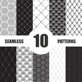 Pattern dots collection. Geometric vector set Stock Images
