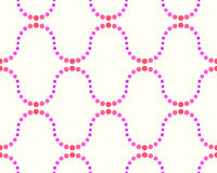 Pattern of dots, pink and purple. Abstract seamless pattern of dots, pink and purple on a white background Stock Photography