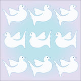 Pattern with dove Royalty Free Stock Photography