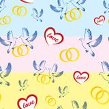 Pattern Doves Wedding Rings Heart Love Stock Photos