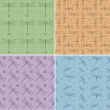Pattern dragonfly Stock Images
