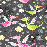 Pattern of dragons Royalty Free Stock Image
