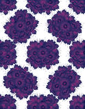 Pattern with drawing violet flowers Royalty Free Stock Images