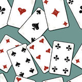 Pattern of the drawn playing cards Royalty Free Stock Images