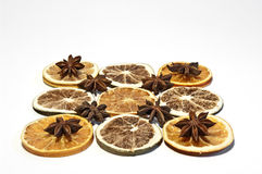 Pattern with dried fruits Royalty Free Stock Image