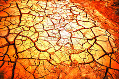 Pattern From Dry Cracked Soil In Sunlight Royalty Free Stock Image