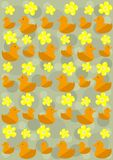 Pattern_ducks Royalty Free Stock Photo