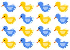 Pattern with ducks Royalty Free Stock Images