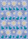 Pattern_ducks2 Royalty Free Stock Photography