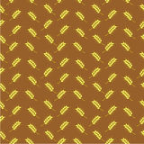 Pattern with ears. Seamless pattern with ears of wheat on brown background Royalty Free Illustration