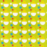 Pattern with Easter Chicks Stock Photos