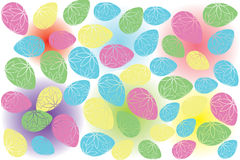 Pattern with Easter eggs Royalty Free Stock Photo