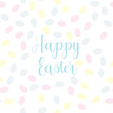 Pattern with easter eggs Stock Photos