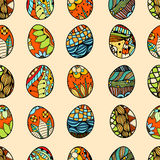 Pattern with Easter eggs Stock Images