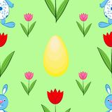 Pattern Easter motives vector illustration