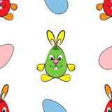 Pattern. Easter motives. Rabbits and eggs royalty free illustration