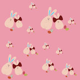 Pattern with Easter rabbits Royalty Free Stock Photo