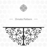 Pattern in Eastern style on scroll work background Royalty Free Stock Photo