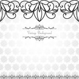 Pattern in Eastern style on scroll work background Stock Photo
