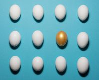 Pattern of eggs Stock Photo