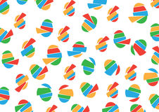 Pattern with Eggs Toy. Stock Photo