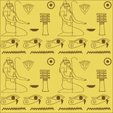 Pattern of Egyptian hieroglyphics Stock Photos