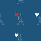 Pattern with Eiffel Tower Royalty Free Stock Photos