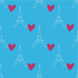 Pattern with Eiffel Tower Stock Photos