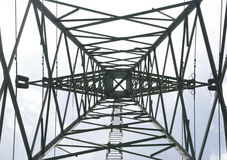 Pattern  Electricity pylons Royalty Free Stock Images