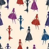 Pattern of the elegant women Royalty Free Stock Photo