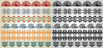 Pattern element art nouveau Stock Image
