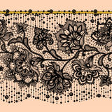 Pattern with elements flowers. Arabic pattern. Royalty Free Stock Images