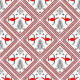 Pattern with elements of meson painting royalty free illustration