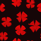 Pattern with elements modernity and old style. Red. Fashionable ornament pattern with elements of modernity and old style. Red and black gamma. Abstract flowers Stock Images