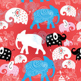 Pattern of elephants in the clouds Stock Photography