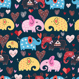 Pattern of elephants in the clouds royalty free illustration