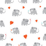 Pattern with elephants. Royalty Free Stock Images