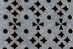 Pattern embossed on metal stock photo