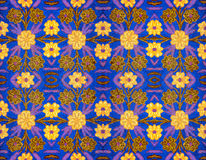 Pattern, embroidered on cloth Stock Images