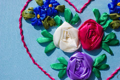 Pattern embroidered flower Stock Photography