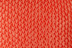 Pattern embroidered orange pillow Royalty Free Stock Photography