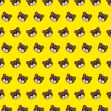 Bear - emoji pattern 44. Pattern of a emoji bear that can be used as a background, texture, prints or something else stock illustration