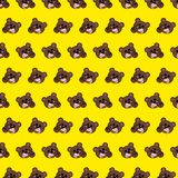 Bear - emoji pattern 65. Pattern of a emoji bear that can be used as a background, texture, prints or something else stock illustration