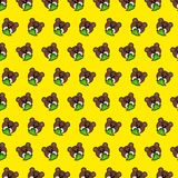 Bear - emoji pattern 80 vector illustration