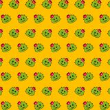 Cactus - emoji pattern 19 stock illustration