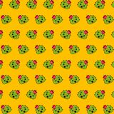 Cactus - emoji pattern 32. Pattern of a emoji cactus that can be used as a background, texture, prints or something else vector illustration