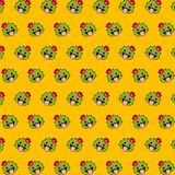 Cactus - emoji pattern 36. Pattern of a emoji cactus that can be used as a background, texture, prints or something else vector illustration