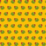 Cactus - emoji pattern 37. Pattern of a emoji cactus that can be used as a background, texture, prints or something else stock illustration