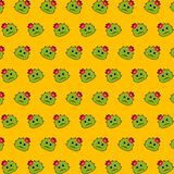 Cactus - emoji pattern 44. Pattern of a emoji cactus that can be used as a background, texture, prints or something else royalty free illustration