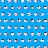 Cow - emoji pattern 16. Pattern of a emoji cow that can be used as a background, texture, prints or something else stock illustration